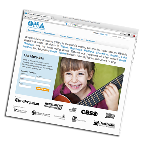 Oregon Music Academy Lesson Site